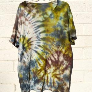 Beach Cover Up Tie Dye Camo Shirt Handmade Hippie